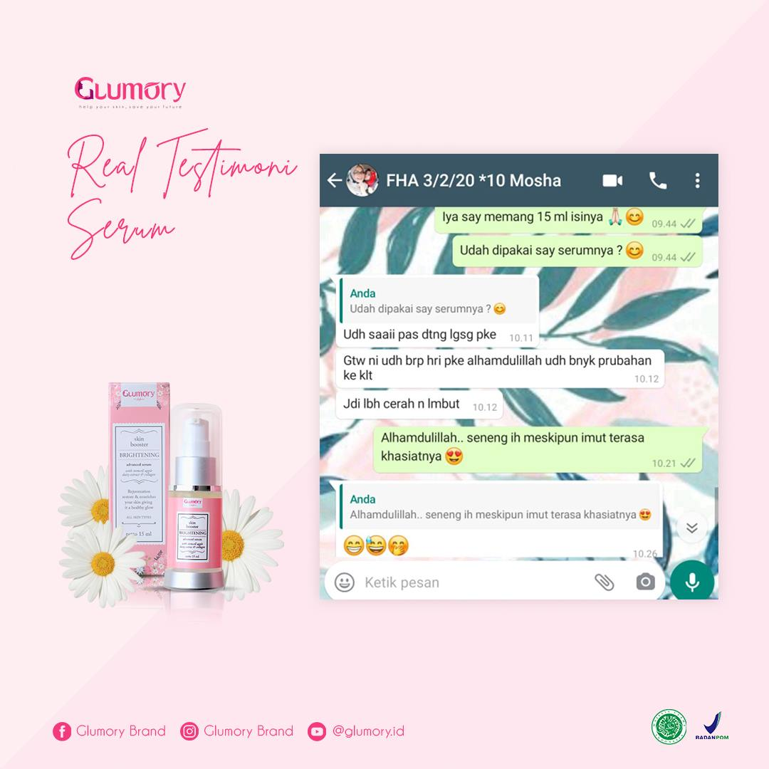 Testimoni Glumory Brightening Advance Serum