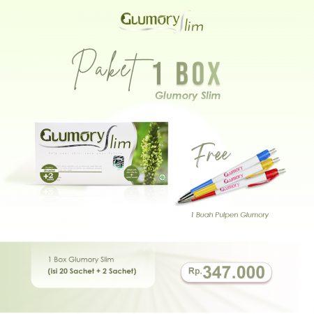 1 Box Glumory Slim Free Pulpen