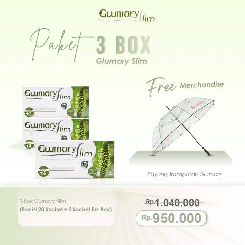 3 Box Glumory Slim Free Payung