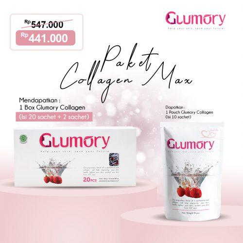 Glumory adalah Minuman Collagen_kolagen Berkualitas Aman _ Sudah BPOM dengan Kandungan 2x Lebih Tinggi (80.000mg) yang Di Rekomendasikan Banyak Artis, terbaik, 1 Paket Collagen Max