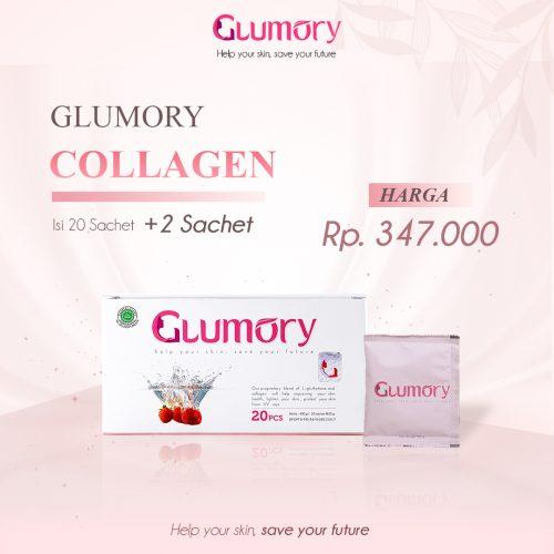 Glumory adalah Minuman Collagen_kolagen Berkualitas Aman _ Sudah BPOM dengan Kandungan 2x Lebih Tinggi (80.000mg) yang Di Rekomendasikan Banyak Artis, terbaik, 1 box glumory
