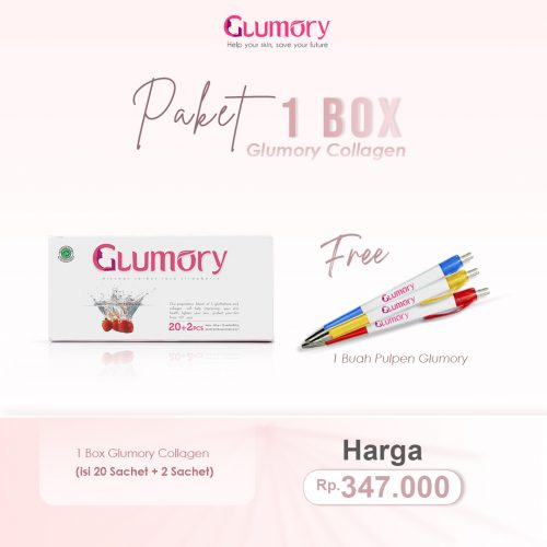 1 Box Glumory Collagen Free Pulpen
