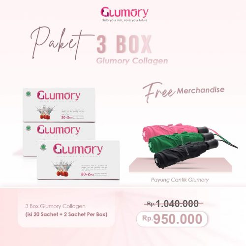 Paket 3 Box Glumory Collagen