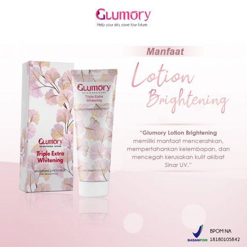 manfaat glumory lotion brightening